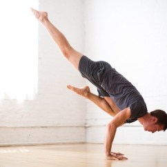 One legged Crane pose