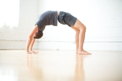 upward facing bow - wheel pose